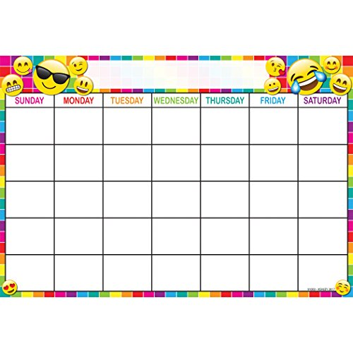 - Ashley Productions ASH91003 Smart Poly Chart, Calendar, Emojis