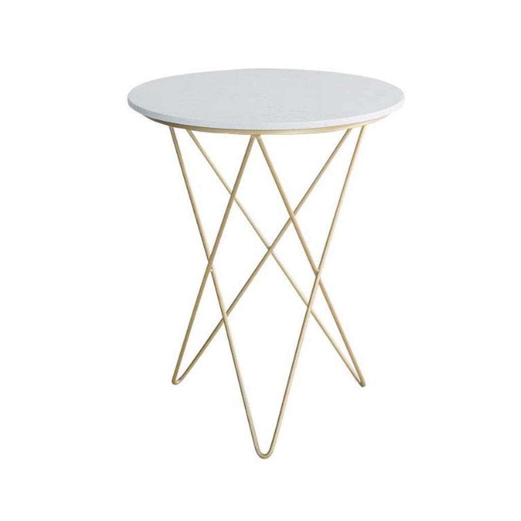 Sofa Side Table Wrought Iron Marble Round Couch Table
