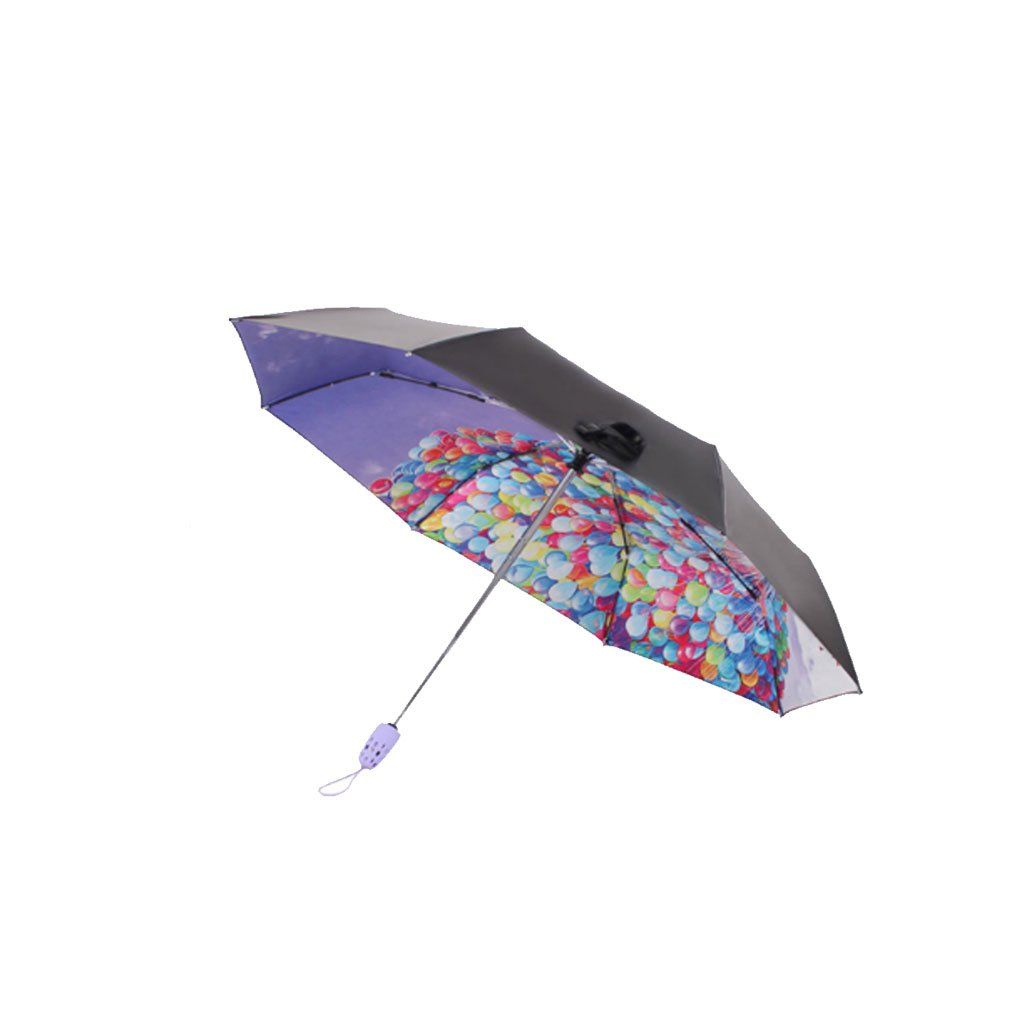 Teng Peng- Compact Travel Umbrella- Ladies Umbrella Parasol Fashionable Portable Folding Umbrella Sun Shade Anti-uv Fast Drying Windproof Travel Umbrella-Auto Open/Close Button,Teflon Coating Househo