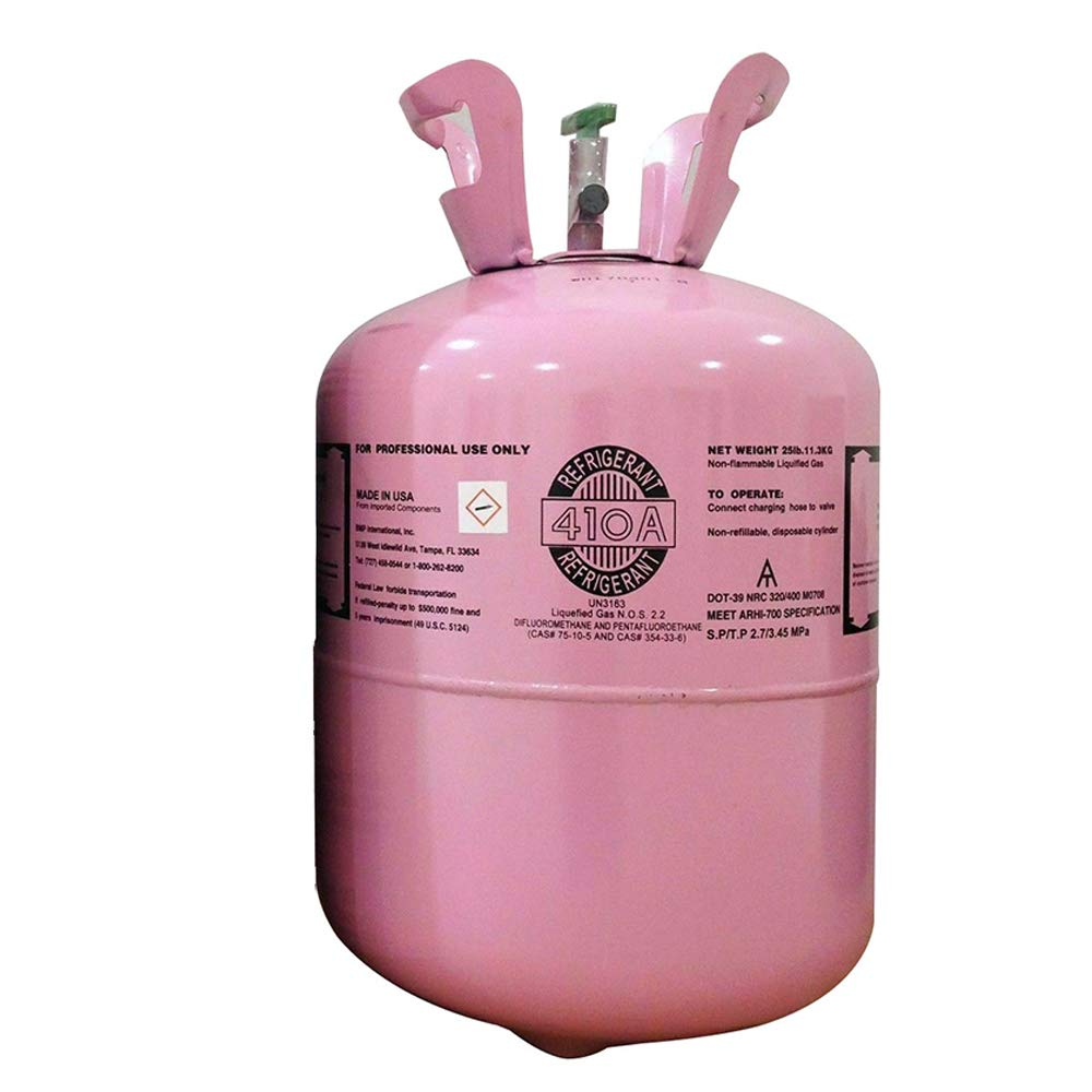 R410A Refrigerant, Net 25lb Tank, USA Made, for Air Conditioner