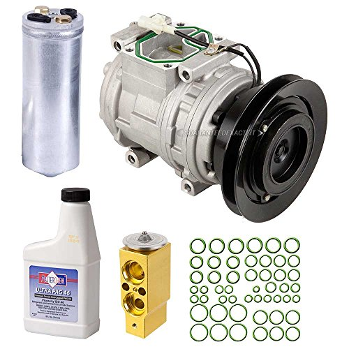 New AC Compressor & Clutch With Complete A/C Repair Kit For Mitsubishi Montero - BuyAutoParts 60-80179RK New Mitsubishi Montero A/c Compressor
