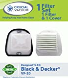 Black and Decker WASHABLE, REUSABLE VF20 DustBuster Filter Plus Cover; Compare With Black and Decker Vacuum Part # VF20, VF-20, 499739-00, 49973900, Appliances for Home