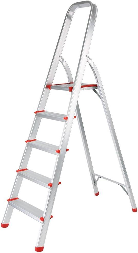 Finether-Escalera Plegable Aluminio de Peldaño de Interior(EN131, 5FT, Mayor Seguridad, Capacidad: 330 lb): Amazon.es: Bricolaje y herramientas