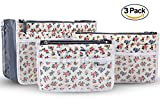 Periea Cushioned Purse Organizer Insert for Handbag, Tote and Diaper Bag -Kiri- Small, Medium And Large