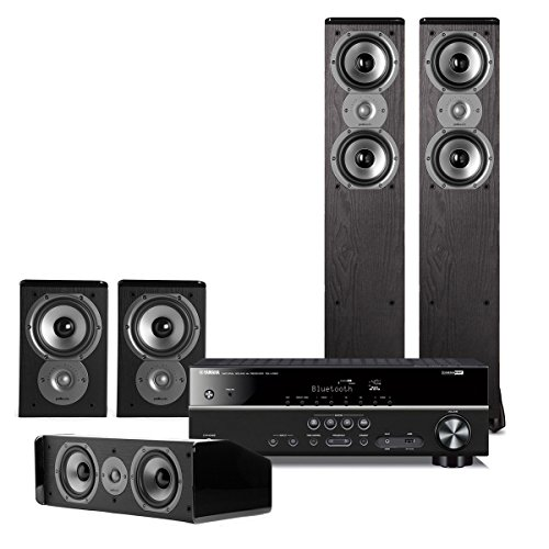 Yamaha RX-V383 5.1 Channel AV Receiver with Polk 5.0 Home Theater Speaker Package by Yamaha
