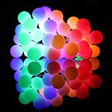Globe String Lights, 50 LED Fairy String Lights 8 Modes Battery Operated Backyard Patio Lights With Remote Timer Perfect for Indoor and Outdoor Use (Colorful)