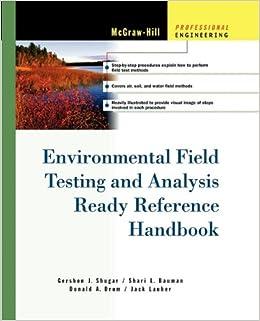 Book Environmental Field Testing and Analysis Ready Reference Handbook
