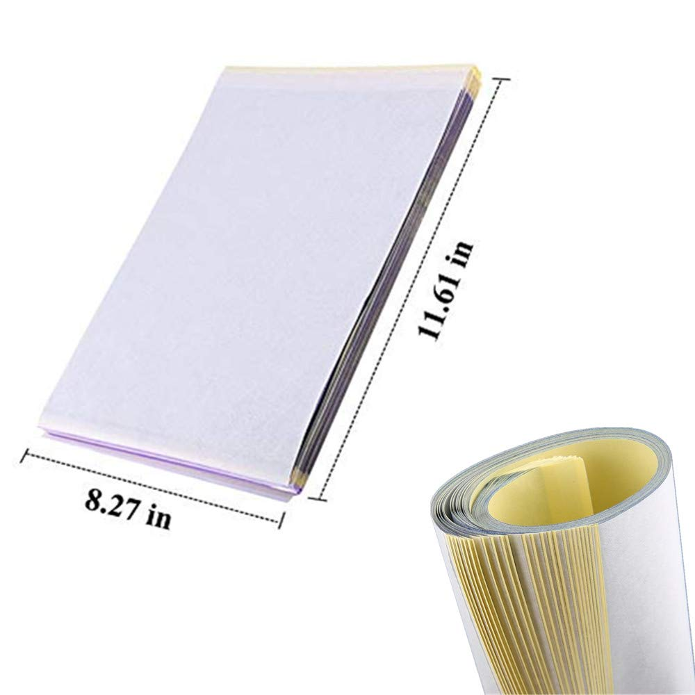 Yuelong 50 Sheets Tattoo Stencil Paper Thermal Stencil Paper 4 Layers 8 1//2 x 11 DIY Tattoo Tracing Paper for Tattoo Transfer Kit Tattoo Supplies Tattoo Transfer Paper