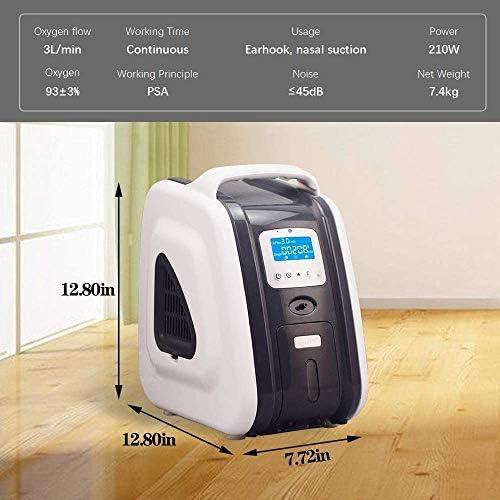 HUKOER concentrador de oxígeno doméstico Gris 1-5 litros/Minuto 90 ...