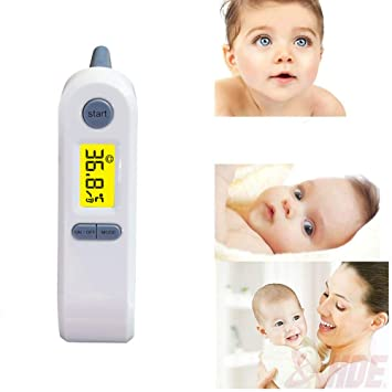 Best Medical Digital Ear Thermometer (Termometro) with Temporal Forehead Function - Infrared Temperature Measurement