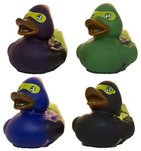 - Set of Four 2 Inch Rubber Duckies