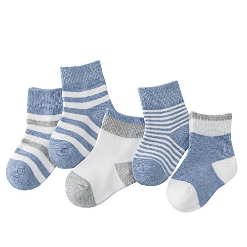 Toddler Baby Kids Boys Socks - Cotton Size 2-3 4 7-10 13-1 12 Children Ankle Socks Cute Crew Stripe Summer For 5 Years Including 5 Pairs from Enjoy Holiday