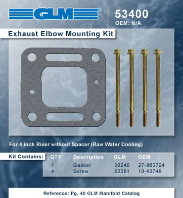 MERCRUISER EXHAUST ELBOW MOUNTING KIT | GLM Part Number: 53400 ()