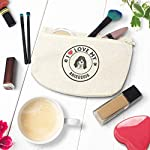 Custom Canvas Makeup Bag I Love My Ariegeois Dog Style A School Supplies Pencil Tote Pouch 9x6 Inches Natural Design Only 10