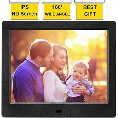 MRQ 8 Inch Digital Photo Frame Full HD Display 180 Degree Wide Viewing Angle...