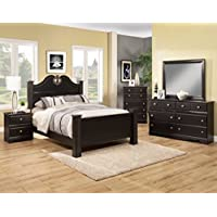 Sandberg Furniture Vienna Bedroom Set, Black Mountain Oak, Eastern King