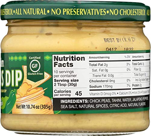 WILD GARDEN: Hummus Dip Jalapeno, 10.74 oz - 3Pack: Amazon.com: Grocery & Gourmet Food