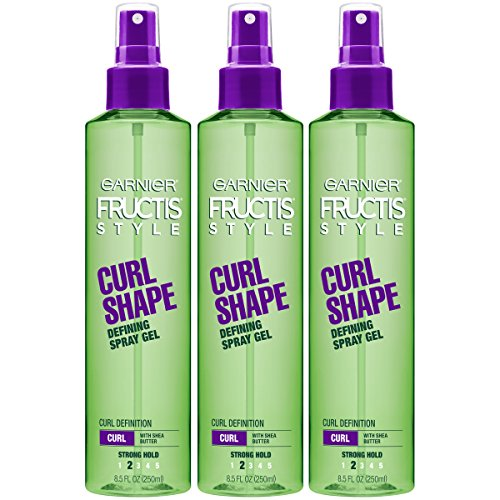 (Garnier Fructis Style Curl Shape Defining Spray Gel for Curly Hair, 8.5 Ounce Bottle, 3 Count)