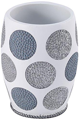 Avanti Linens 13870A WHT Dotted Circles Tumbler, White ()