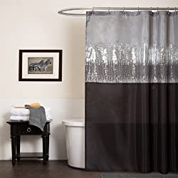 Sequin Fabric Shimmery Color Shower Curtain