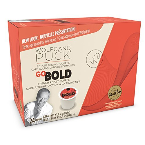 Wolfgang Puck Coffee Single Serve Capsules, Go Bold French Roast, 24 Count