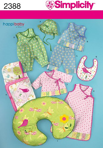 Simplicity Sewing Pattern 2388 Babies' Layette, A (Hooded Towel Patterns)