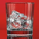 Red Series 12 oz. Stripe Double Old Fashioned Glass (Set of 4)