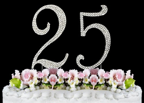 Rhinestone Cake Topper Number 25 by other - Rhinestone Cake Topper Number 25