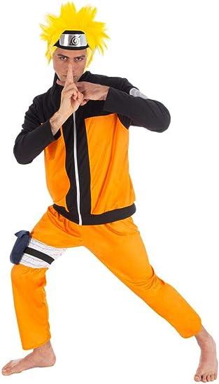 Naruto Disfraz Uzumaki 5 Piezas Naranja Negro: Amazon.es: Ropa y ...