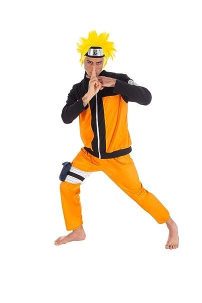 Naruto Disfraz Uzumaki 5 Piezas Naranja Negro: Amazon.es ...