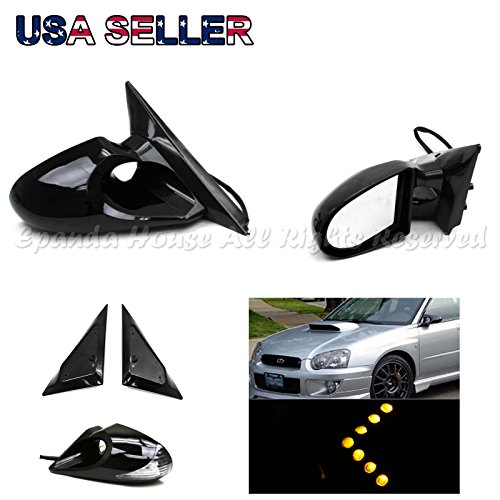 For 92-98 Bmw E36 3-Series 4Dr Side Power Mirrors Yellow Led Turn Signal (4dr Side Mirror)