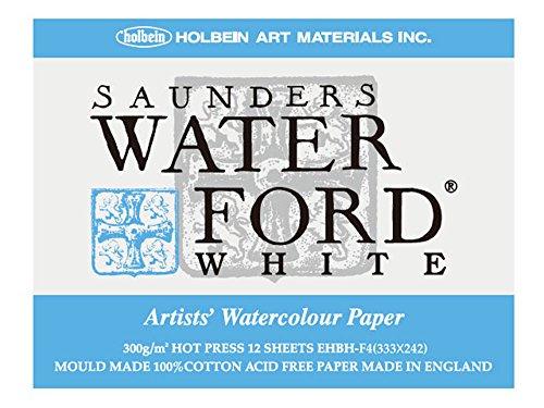 홀베인 워터 포드 수채화 용지 블록 중 종이 300g (중 두께 입) 특성 화이트 12 장 제본 270-963 EHBH-F4
