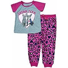 63255f868 Joe Boxer Girls Dream Team Bulldog   Cat Pajamas 2 Piece Sleep Set Sleepwear