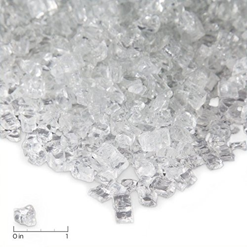 Real Flame Fire Glass Filler Ice Clear 10001-ICG