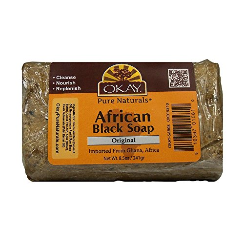 Okay African Soap, Black, 8 Ounce