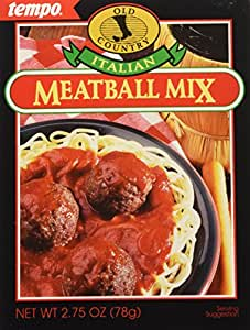 Tempo Italian Meat Ball Mix, 12-Count Box of 2.75-Ounce Packets