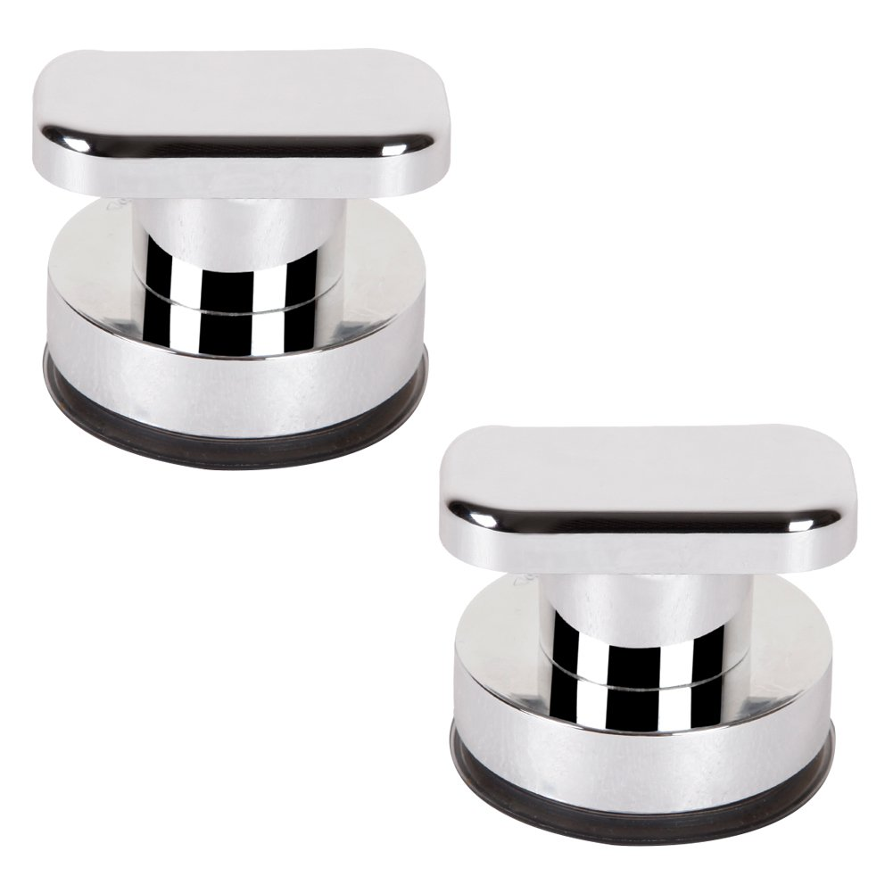 2 Pack Plastic UV Coating Surface (Silver) Super Strong Suction Cup Toilet knob Hold Suction Handle Suction Cup Shower Non-Metal Handle Suction Door Handle Suction Cup Wall Handle