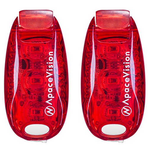 EverLightFX USB Rechargeable LED Safety Light (2 Pack) by Apace - Super Bright Bike Tail Light Works Brilliantly as Running Light for Joggers, Pets, Bicycle Strobe or Rear Clip On Lights]()
