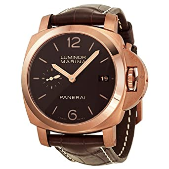 Panerai Luminor Marina 18K Rose Gold Automatic Watch - PAM00393