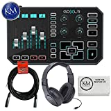 TC-Helicon GO XLR Broadcast Platform + Headphones + 20ft XLR Cable + K&M Cloth