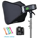 Godox AD600BM Bowens Mount 600Ws GN87 High Speed Sync Outdoor Flash Strobe Light Monolight with X1N Wireless Trigger For Nikon camera & 80cmX80cm /32''X32''Softbox (Bowens Mount Speedring)