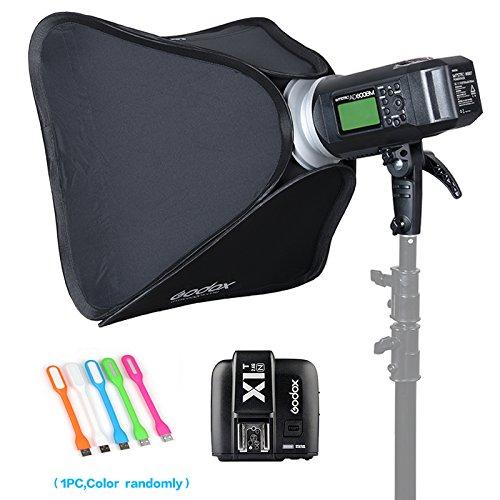 Godox AD600BM Bowens Mount 600Ws GN87 High Speed Sync Outdoor Flash Strobe Light Monolight with X1N Wireless Trigger For Nikon camera & 80cmX80cm /32''X32''Softbox (Bowens Mount Speedring) by Godox