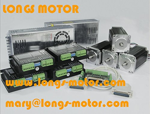 Price tracking for: 4 axis Nema 23 stepper motor 425 oz.in ... on
