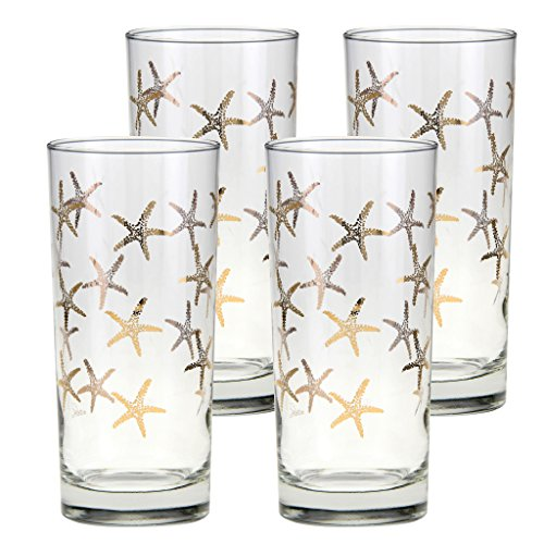 Culver Gold 22k 15-Ounce Cooler Glass Set of 4 - Culver Glasses Gold