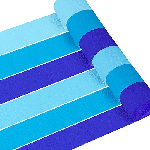- Coceca 12 Rolls 82ft Baby Blue Crepe Paper Streamers, 3 Colors, for Birthday Party, Class Party, Family Gathering, Thanksgiving, Christmas Decoration