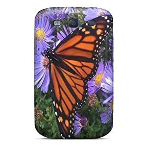 Perfect Cell-phone Hard Cover For Samsung Galaxy S3 With Customized High-definition Butterfly Pattern KennethKaczmarek
