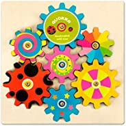 Quokka Wooden Busy Boards Gears Puzzles for Toddlers 1 2 3 Years Olds, Toddler Learning Wood Activity Board Pu