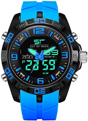 Sports waterproof dial digital watch/Fashion simple light middle school students watch-B