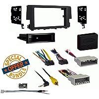 Metra 99-7812B Single DIN Install Dash Kit for Select 2016-Up Honda Civic LX W/ Axxess XSVI-1731-NAV And Antenna Adapter