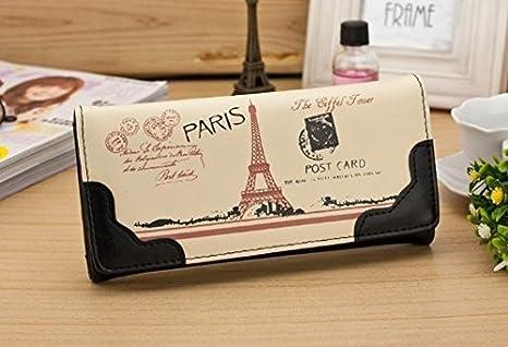 Cartera de lujo Onewiller, para mujer, diseño de la Torre Eiffel (incluye tarjetero), negro: Amazon.es: Bricolaje y herramientas